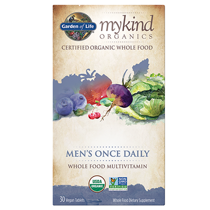 Garden Of Life Mykind Organics Men's Once Daily Multi 30 Tablets