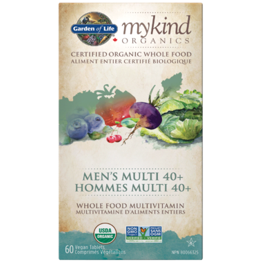 Garden of Life MyKind Organics Men's Multi 40+ 60 Tablets
