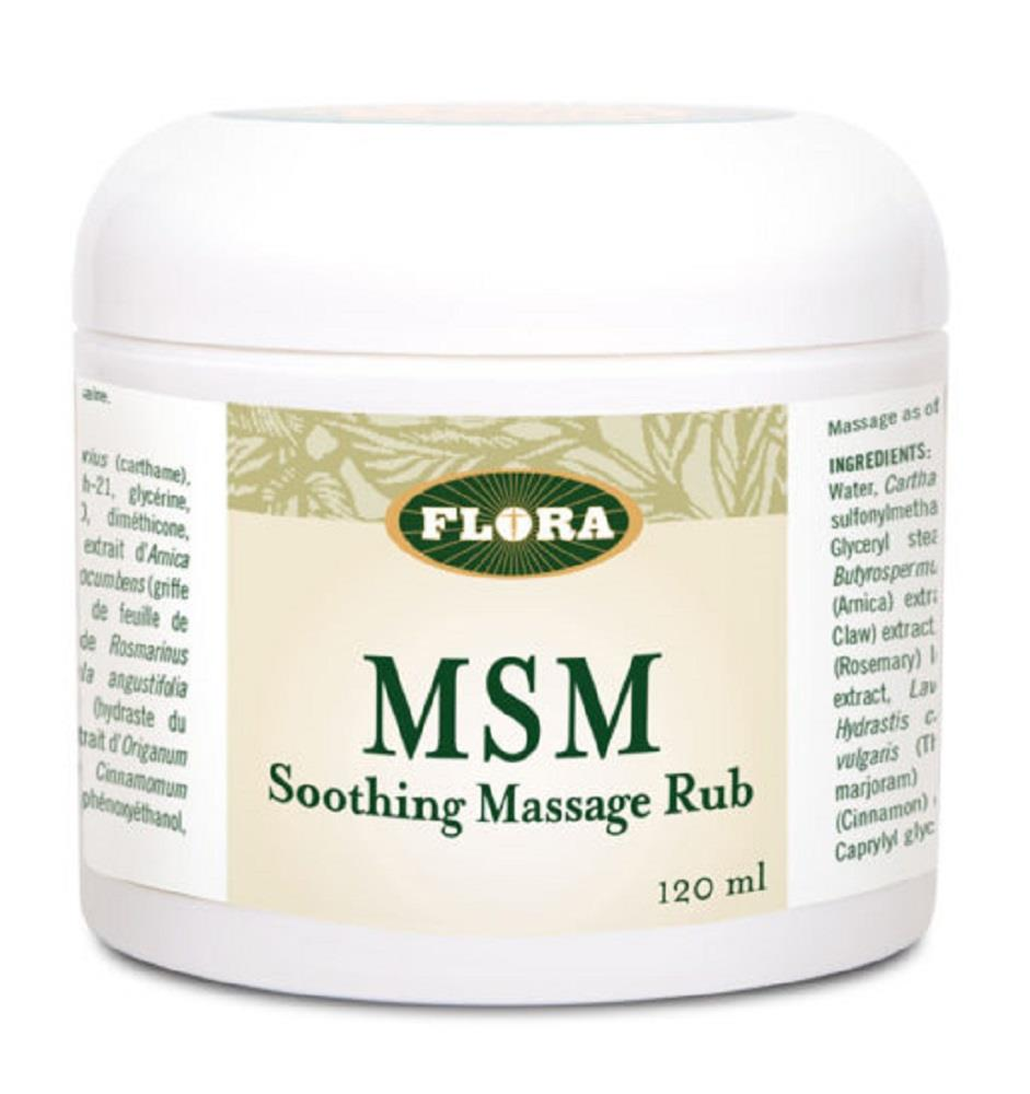 Flora MSM Soothing Massage Rbub120ml