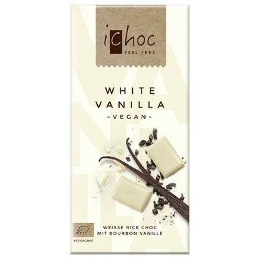 Ichoc White Vanilla Chocolate Bar 80G