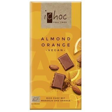 Ichoc Almond Orange Chocolate Bar 80G