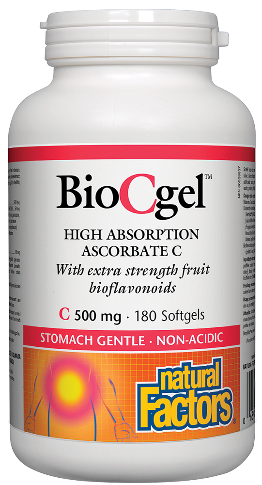 Natural Factors Bio-C Gel 500MG 180SG