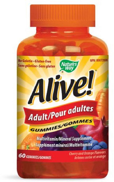 Nature's Way Alive Adult Gummy Cherry 60Gummies