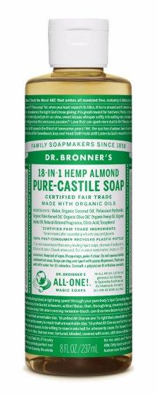 Dr. Bronner Pure-Castile Almond Liquid Soap 237ML