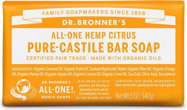 Dr. Bronner Pure-Castile Citrus Bar Soap 140G