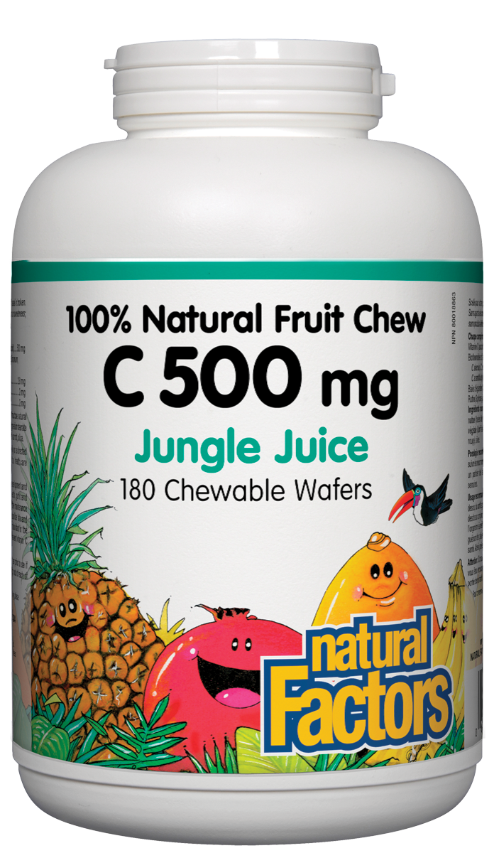 Natural Factors C500 Jungle Juice 180 Chewables