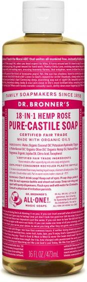 Dr. Bronner Pure-Castile Rose Liquid Soap 473ML