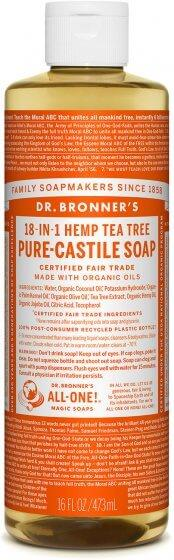 Dr. Bronner Pure-Castile Tea Tree Liquid Soap 473ML