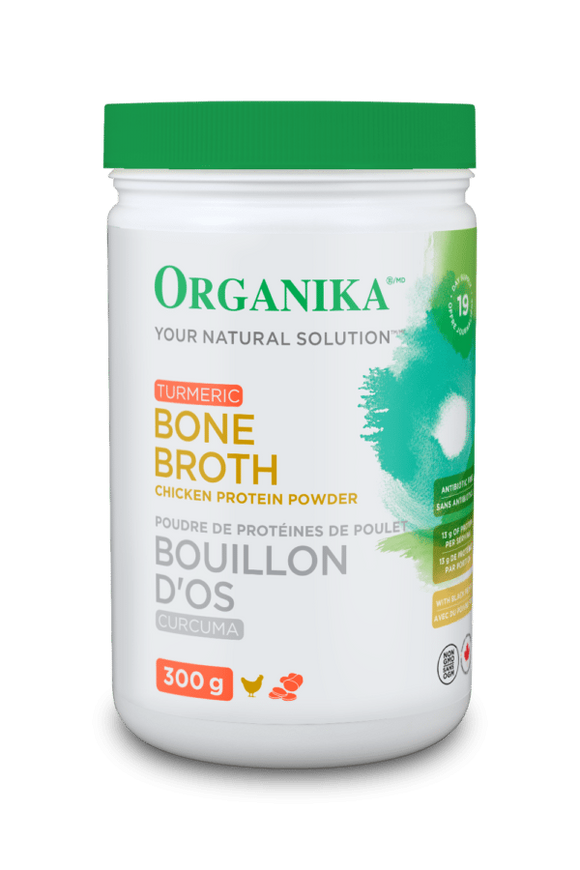 Organika Chicken Bone Broth Protein with Turmeric 300g