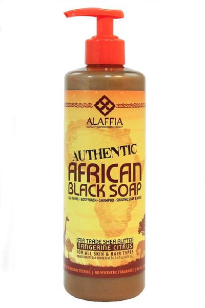 Alaffia Authentic African Black Soap Tangerine Citrus 476ml