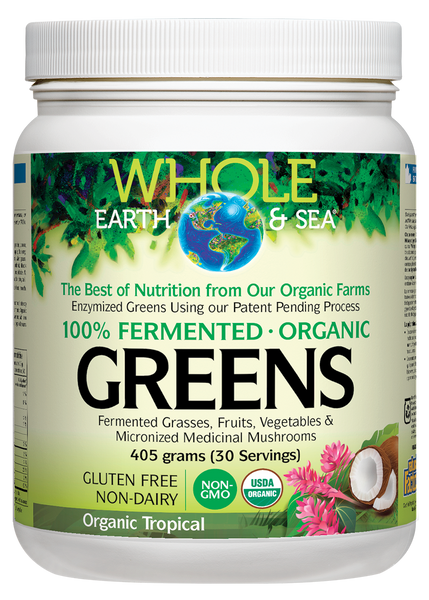 Whole Earth and Sea Fermented Organic Greens - Tropical Fruits