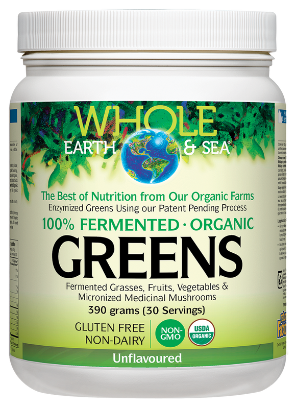 Whole Earth and Sea Fermented Organic Greens - Unflavoured
