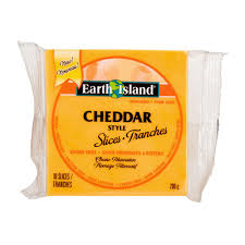 Earth Island Cheddar Slices 200g