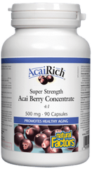 Natural Factors Acai Rich Super Strength Acai Concentrate 500mg 90Caps