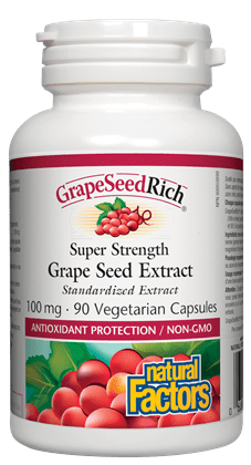 Natural Factors Grape Seed Rich 90V.Caps