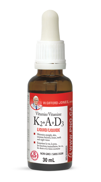 W Gifford-Jones Vitamin K2 + A + D3 (30ml)
