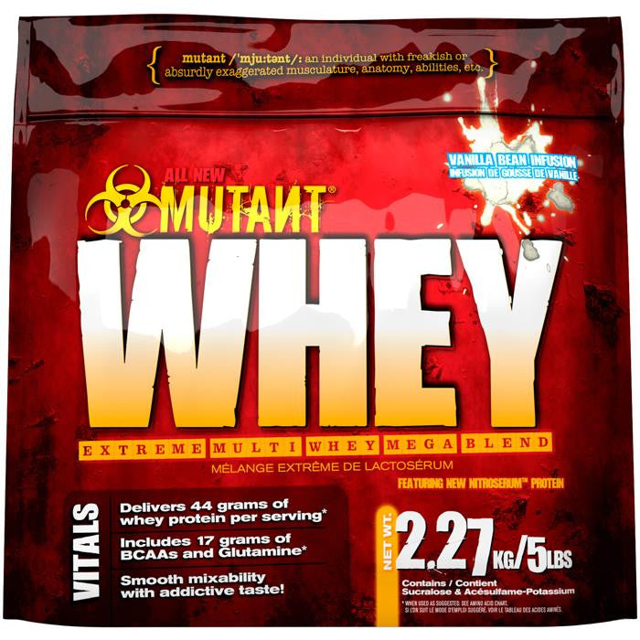 Mutant Whey Vanilla Bean Infusion 5lbs