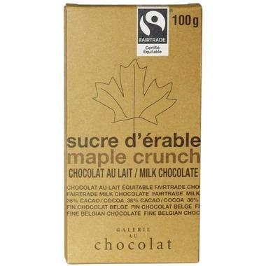 Galerie au Chocolat Maple Crunch Chocolate Bar 100G
