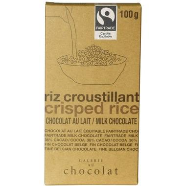 Galerie au Chocolat Crisped Rice Chocolate Bar 100G