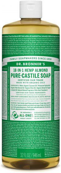 Dr. Bronner Pure-Castille Liquid Soap Almond 946ml