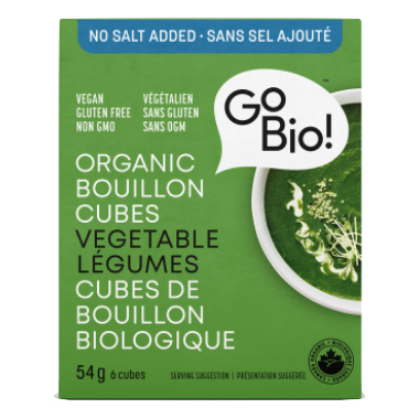 GoBio! Organic Bouillon Cubes – No Salt Added Vegetable 6 Cubes