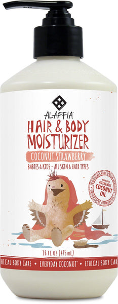 Alaffia Babies & Kids Coconut Hair & Body Moisturizer Coconut Strawberry