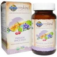 Mykind Organics Prenatal Once Daily Whole Food Multivitamin  30 Vegetarian Tablets
