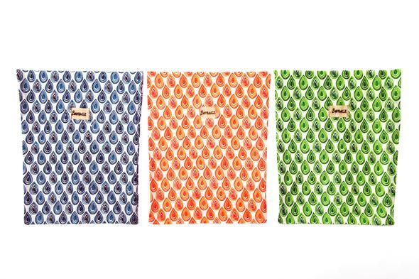 BeeBagz Large Pack (Set of 3) - Beeswax Wrap Bags