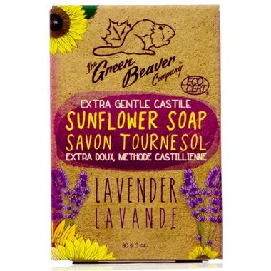 Green Beaver Extra Gentle Castile Sunflower Bar Soap Lavender 90G