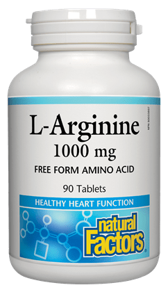 Natural Factors L-Arginine 1000MG 90Tabs