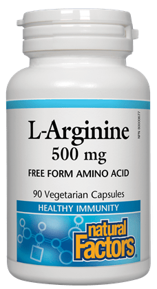 Natural Factors L-Arginine 500MG 90V Caps