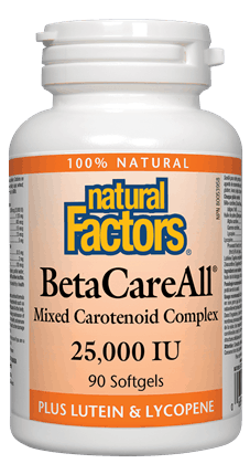 Natural Factors Beta Careall 25,000 180SG