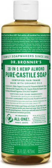 Dr. Bronner Pure-Castille Liquid Soap Almond 473ml