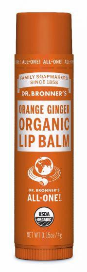 Dr. Bronner Lip Balm Orange Ginger 4g