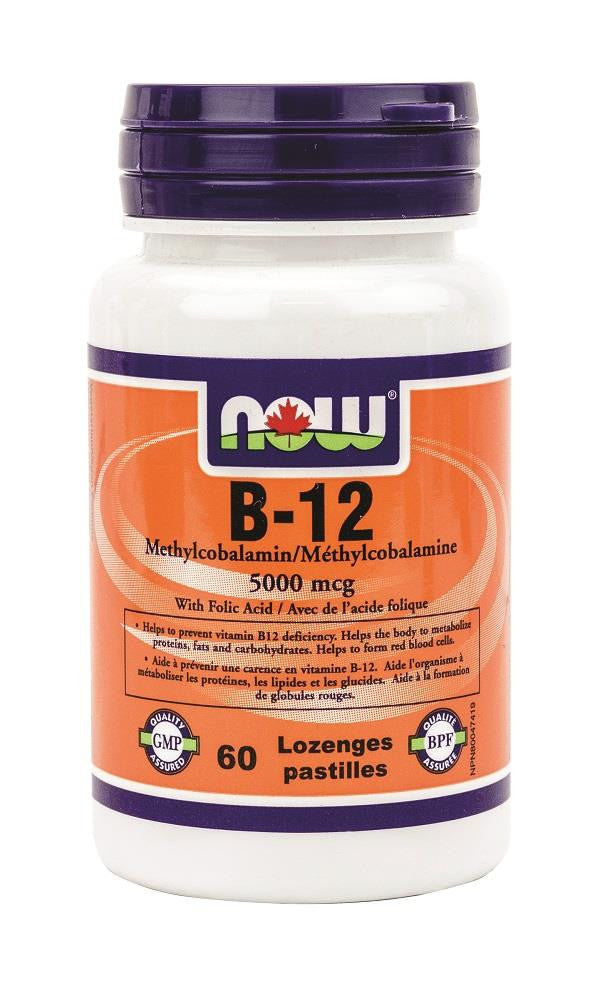 NOW Methyl B-12 5000mcg 60lozenges