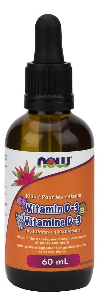 NOW Kids Vitamin D3 Liquid 100 IU 60ml