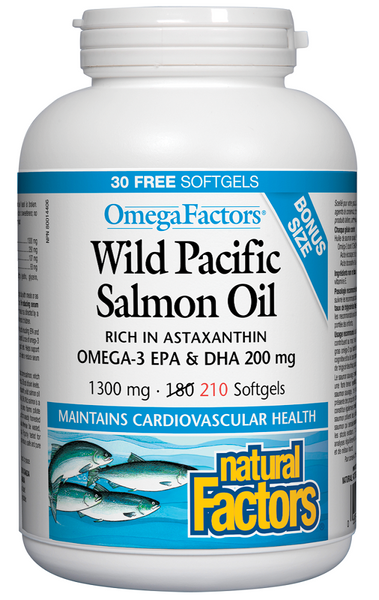Natural Factors Wild Pacific Salmon 210caps