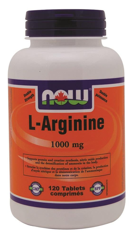 NOW L-Arginine 1000mg 120tabs