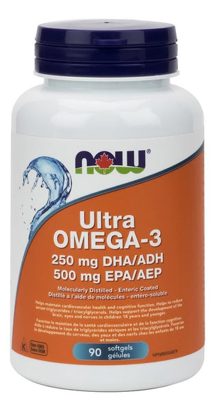 NOW Ultra Omega-3 250mg/DHA 500mg/EPA 90softgels
