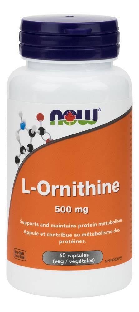 NOW L-Ornithine 500mg 60caps