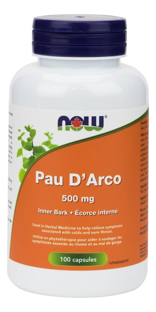 NOW Pau D'arco 500mg 100Vcaps