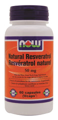 NOW Natural Resveratrol 50mg 60Vcaps