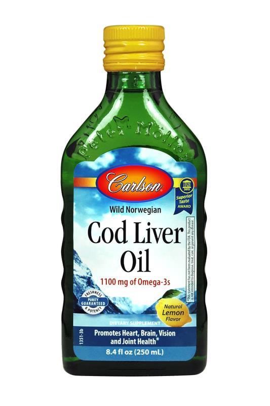 Carlson Cod Liver Oil Lemon Flavoured 250ml