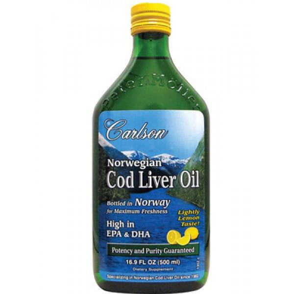 Carlson Cod Liver Oil Lemon Flavoured 500ml