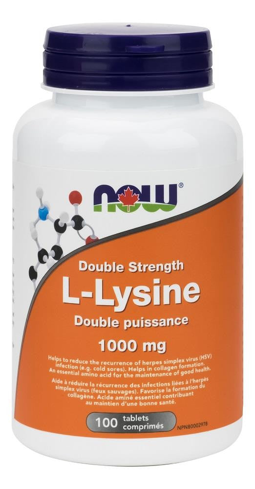 NOW L-LYSINE 1000MG 100 TABLETS