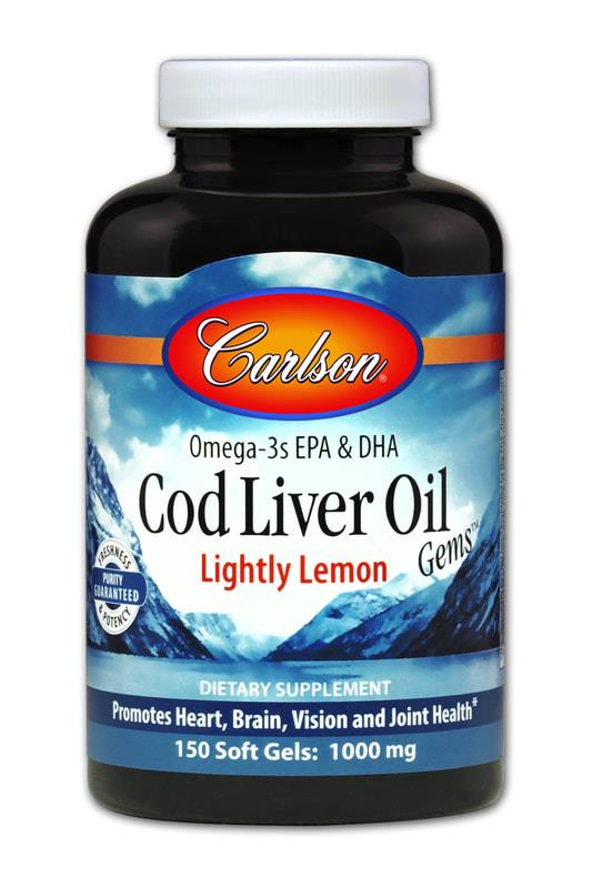 Carlson Cod Liver Oil Lightly Lemon 150softgels