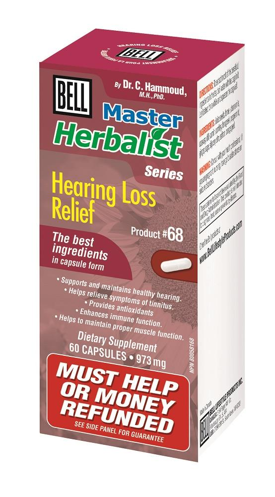 BELL Hearing Loss Relief 973mg 60caps