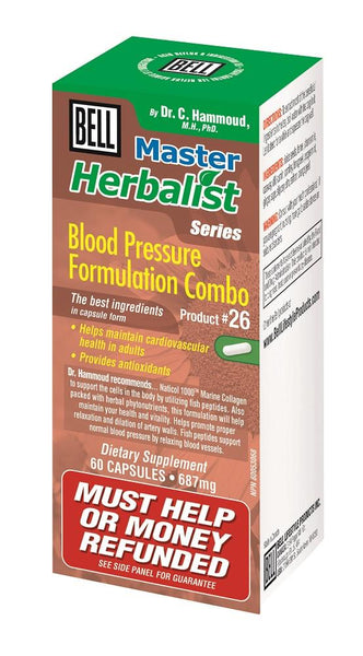 BELL Blood Pressure Formulation Combo 687MG 60caps