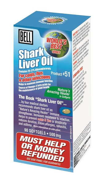 BELL Shark Liver Oil 500MG 90 Capsules