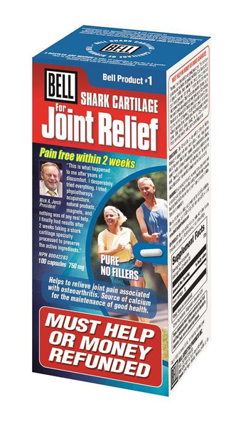 BELL Shark Cartilage for Joint Relief 750MG 100 Capsules